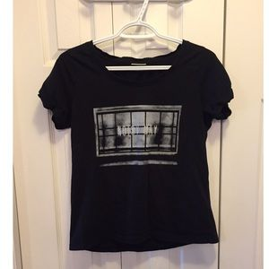 Urban Outfitters Noisey May Graphic Black T-Shirt